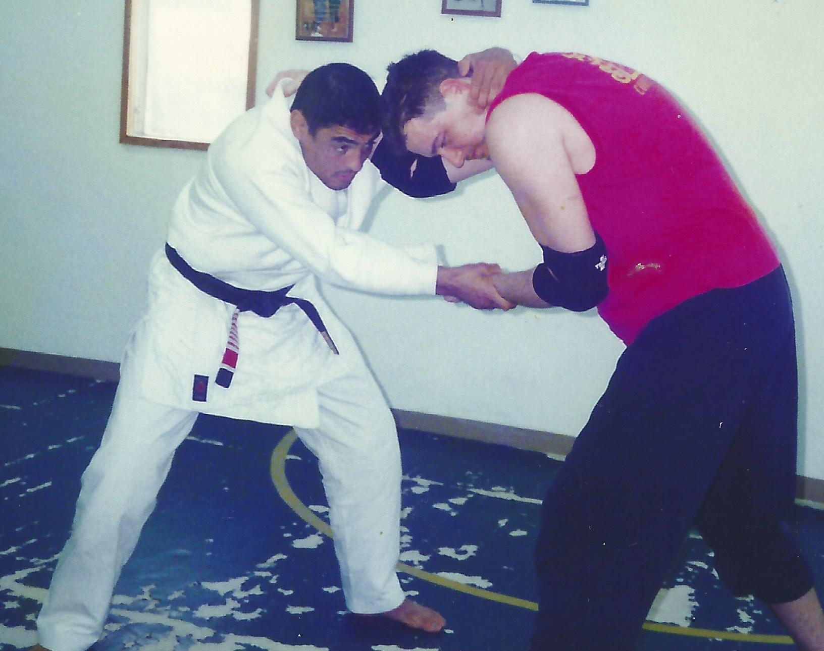 SBG Founder Matt Thornton, with Rickson Gracie – more than 22 years ago