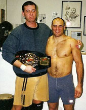 Matt Thornton with UFC Legend Randy Couture, after a training session